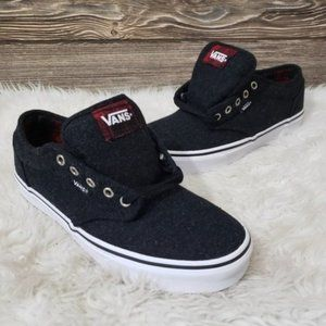 New Vans Atwood Plaid Black Red Sneakers